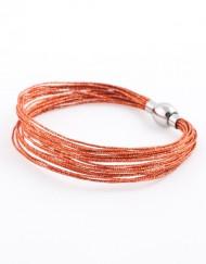Bronskleurige armband met Japanse zijde