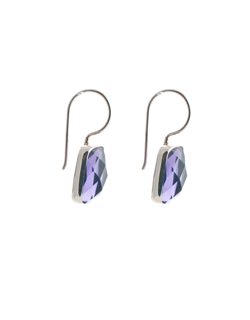 Sterling zilver oorbellen met amethist