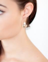 Sterling zilver oorbellen met groene amethist