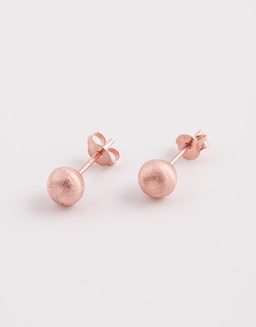 sterling zilver rosé bolletjes oorbeleln