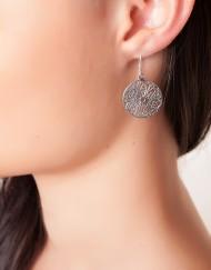 sterling zilver ronde oorbellen