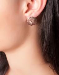 sterling zilver rosé oorbellen met zirkoon