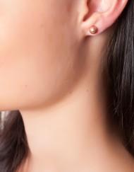sterling zilver rosé oorbellen met bolletje