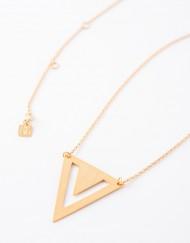 Sterling zilver halsketting met driehoek