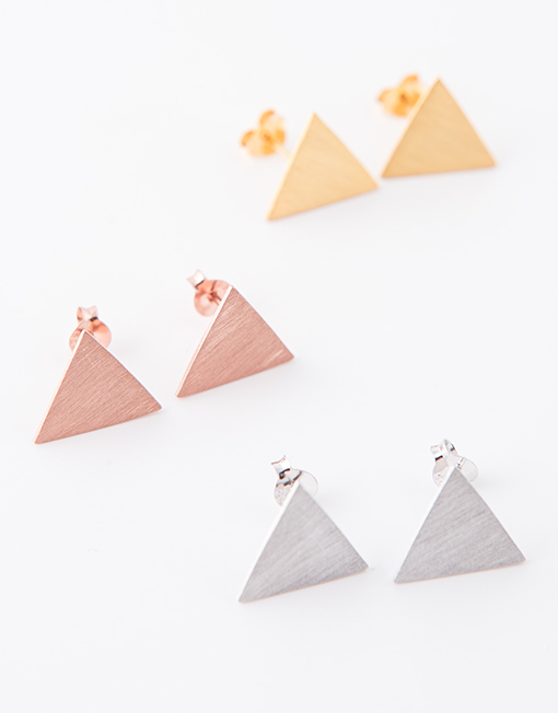 sterling zilver triangles
