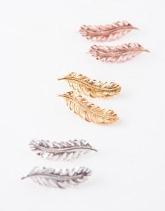 sterling zilver veer oorbellen