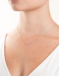 sterling zilver halsketting met kleine cirkel