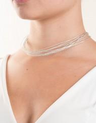halsketting met Japanse zijde